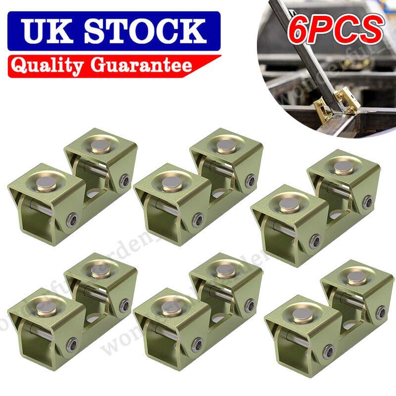 6* V Shape Magnetic Welding Clamps Suspender Fixture Hand Holder Adjustable Tool