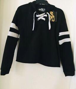 98bebafc963 Image is loading S2-Sportswear-Women-s-Black-White-Hoodie-Jacket-