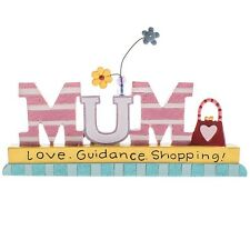 Mum Love Guidance Shopping Plaque Mummy Mother Birthday Gift Saying Sentimental
