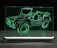 DKW Munga como auto grabado en LED-señal luminosa