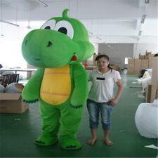 4f9413efc Green Dinosaur Mascot Costume Cosplay Dragon Parade Outfit Adults Fancy  Dress