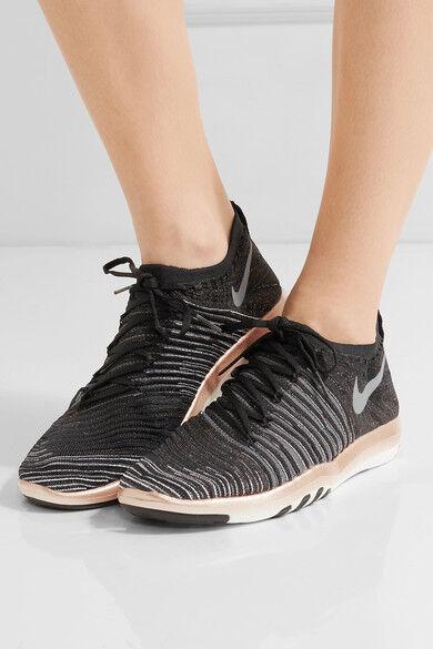 Mujeres Nike Free transformar Flyknit tamaño 3.5 3.5 3.5 EUR 36.5 (833410 005) Negro oro gris  servicio considerado