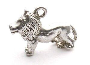Vintage-Sterling-Silver-Lion-Bracelet-Charm-Zodiac-Leo-Astrology