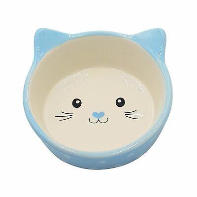 2 X Gatto Gattini Porcellana Blu A Pois Acqua Cibo Ciotole Piatto 13cm Dishes, Feeders & Fountains 12.7cm Less Expensive