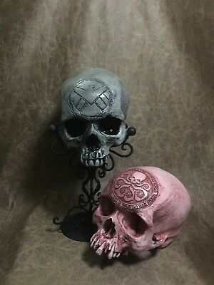 Shield & Hydra Set Carved Replica of Real Human Skull Zane Wylie Captain  America