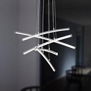 WOFI-lampara-colgante-LED-STELLA-5-LLAMAS-Cromado-Plastico-24-vatios-1500-Lumen
