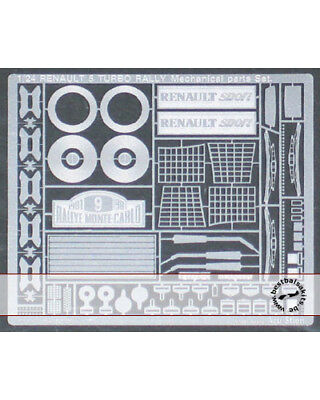 1//24  RENAULT R5 TURBO RALLY PHOTO ETCH DETAIL GRADE UP for TAMIYA