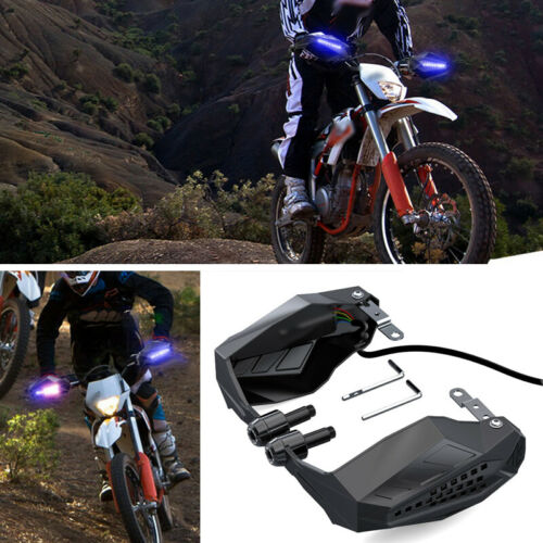 Motorcycle Hand Guards Rainproof Board W// Lights Windproof Windshield Cover Safe