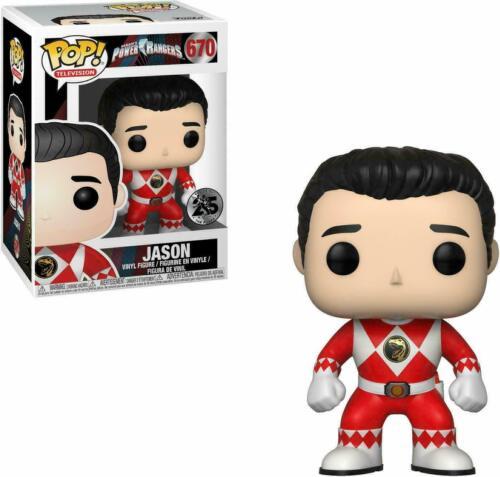 POWER RANGERS JASON RED RANGER NO HELMET FUNKO POP VINYL FIGURE #670 Gift Idea