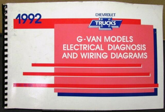 1992 Chevrolet Electrical Wiring Diagram Service Manual G Van Models Repair    eBay   Chevrolet Wiring Diagrams Manuals      eBay