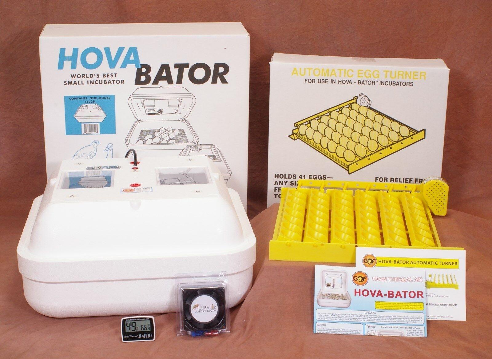 HOVABATOR EGG INCUBATOR KIT   Egg Turner   Fan Kit   Thermometer Hygrometer