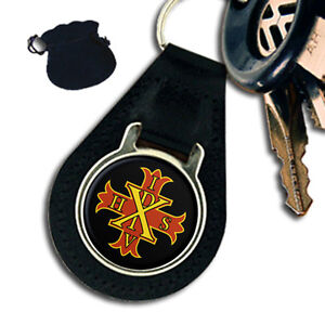 RED CROSS OF CONSTANTINE MASONIC LEATHER KEYRING KEYFOB - Plymouth, United Kingdom - RED CROSS OF CONSTANTINE MASONIC LEATHER KEYRING KEYFOB - Plymouth, United Kingdom