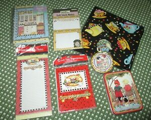 Lot-Mary-Engelbreit-Magnetic-List-Pad-Note-Cards-Tin-Stickies-Napkins-Journal