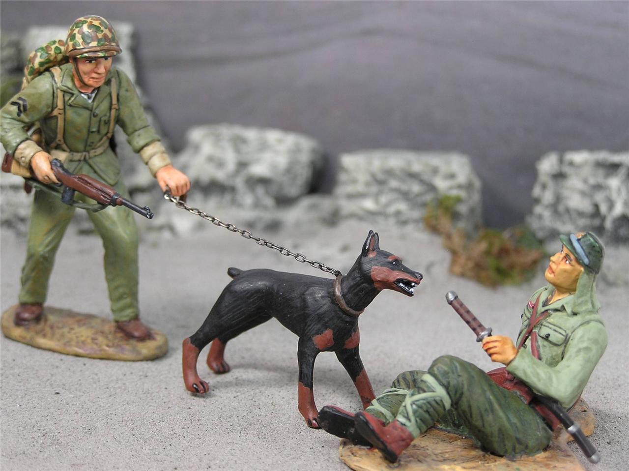 März durch Mal Zweiter Weltkrieg Pazifik AMH-02 U.S.Marine Krieg Hunde MIB