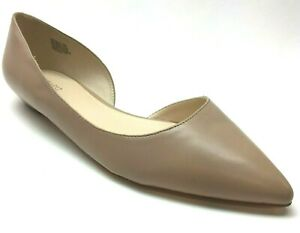 Nine-West-Brown-Pointed-Toe-D-039-Orsay-Flats-Loafers-Shoes-Heels-11M-11