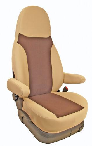 Wohnmobil Sitzbezug Sitzbezüge Schonbezüge mit Armlehnenbezüge Mokka braun beige
