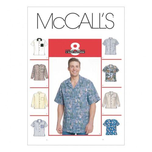 Gratis Reino Unido P/&p mccalls para Hombre Patrón De Costura 2149 largo y corto manga Sh..