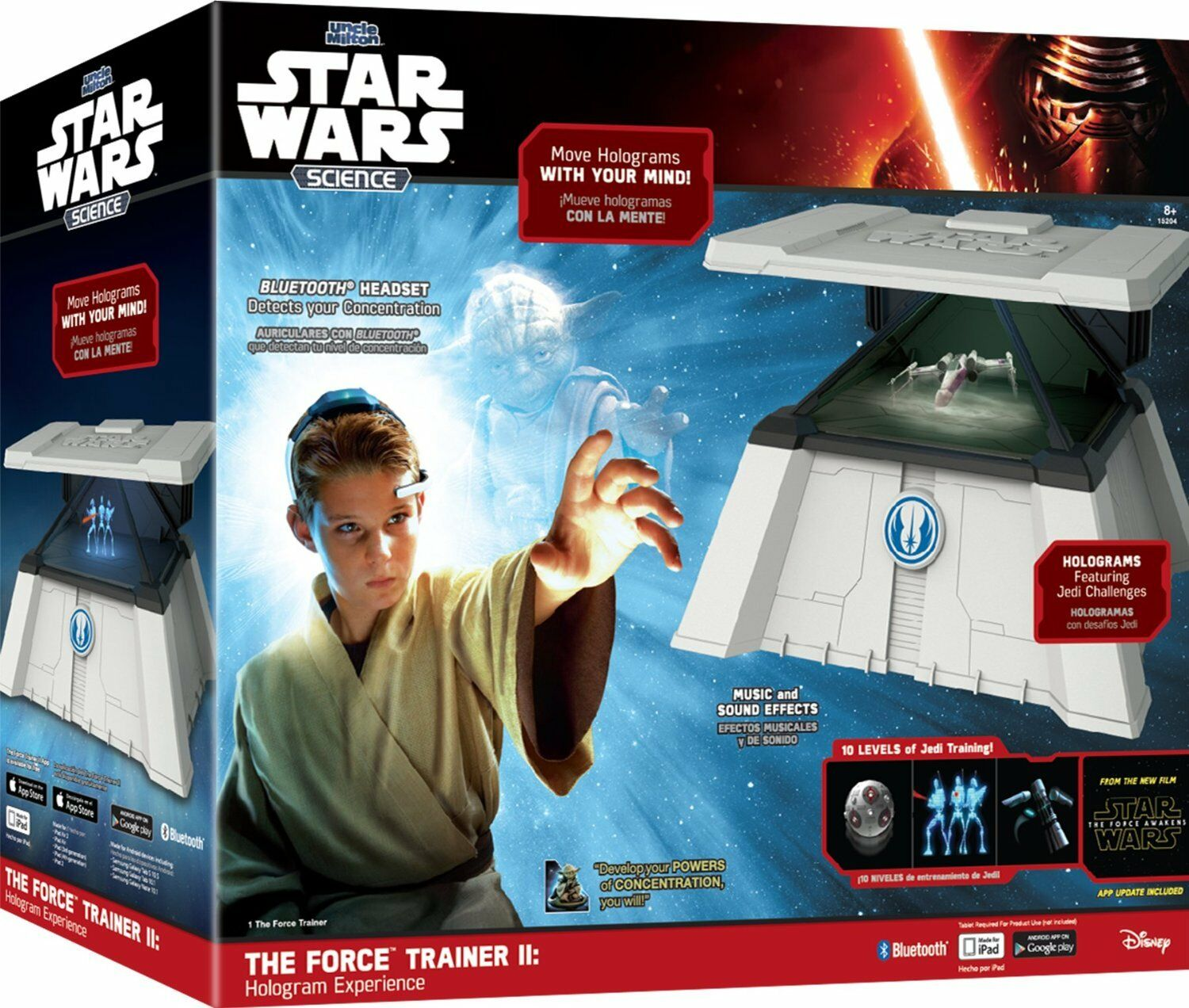 Star Wars Science 15204 The Force Trainer II Hologram Experience Featuring Jedi