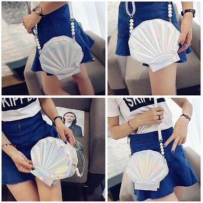Personal Girl Bag Newest Design Laser Sweet Shell Chain Shoulder ClutchHandbag B