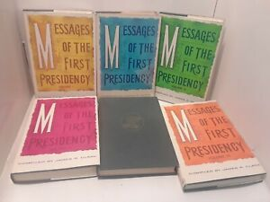 Messages of the First Presidency Volumes 1- 6  - James R Clark  (LDS, HARDCOVER)