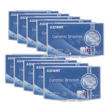 Azdent Dental Orthodontic Ceramic Brackets Roth022 345 Hooks Marked Braces