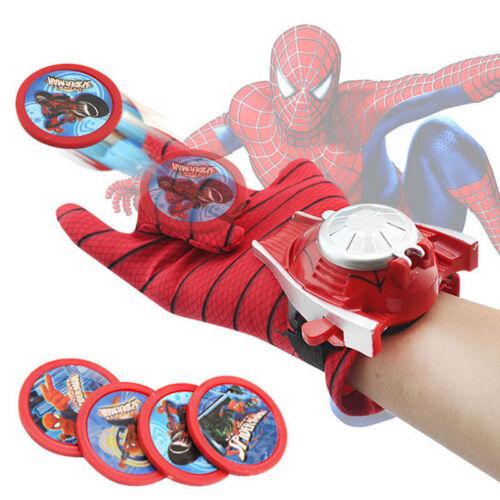 Super Hero lanceurs Gants Spider-Man Iron Man Hulk Enfants Cosplay jouets S80
