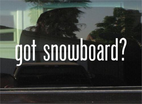 GOT SNOWBOARD STICKER VINYL DECAL