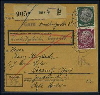115130 Paketkarte 1934 Gera Siehe Beschreibung Hohe QualitäT Und Geringer Aufwand
