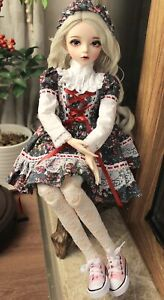 24-034-1-3-BJD-Doll-Puppen-Girl-With-Changeable-Eyes-Wigs-Shoes-Clothes-FULL-SET