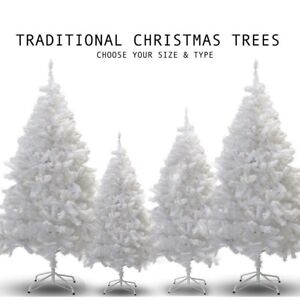 White Christmas Tree.Details About 4ft 5ft 6ft 7ft White Christmas Artificial Tree Stand Sale Green Thick Bushy New