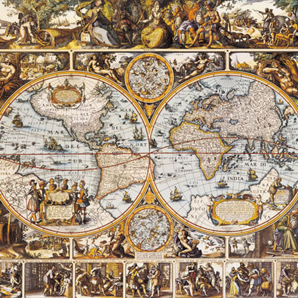 Chamberart Jigsaw Puzzle 1,000pcs [Paper] 28.920  (73.551cm) Old Map