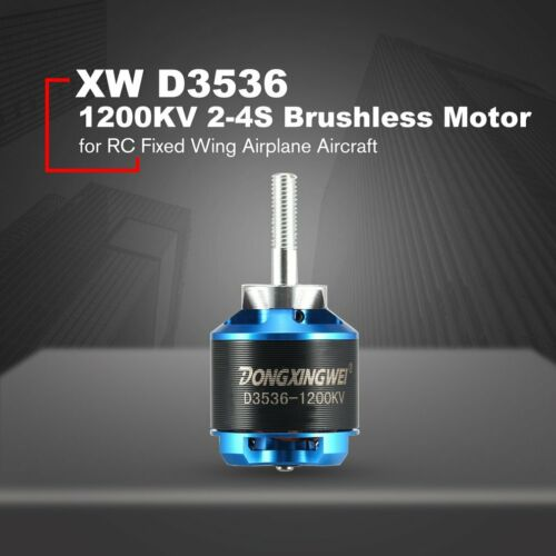 DXW D3536 1200KV 2-4S Brushless Motor For RC Fixed Wing Airplane Aircraft AN