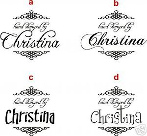 Unmounted-Personalized-039-Hand-stamped-by-039-rubber-stamps-H62