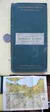 BOTANICAL MAP Of EDINBURGH DISTRICT,ca1900 s,Robert Smith