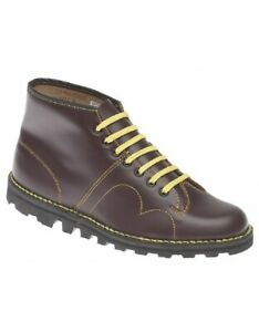 Grafters Original Cherry Red Leather Unisex Monkey Boot B430