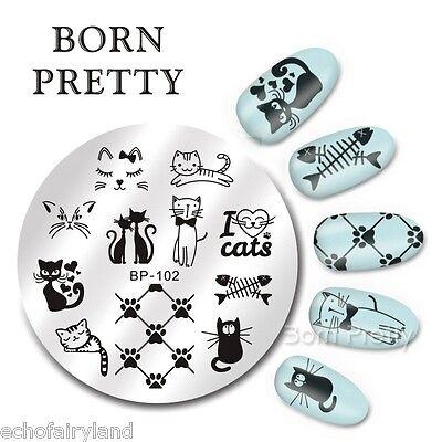 1Pc Original BORN PRETTY BP56-110 Nail Art Stamping Image Plate Template Stencil