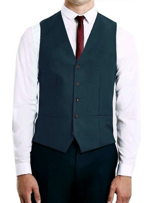 FARAH Mens Dark Denim bluee Rawsley Tuxedo Single Breast Waistcoat 38R   RRP