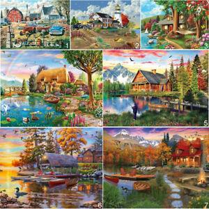 Lake House Full Drill DIY 5D Diamond Painting Cross Stitch Kits Mosaic Decor Art
