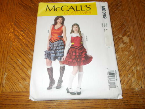 Tops McCalls COSTUME Pattern M6999 Girl//Miss STEAMPUNK Outfits Ruffled Skirts