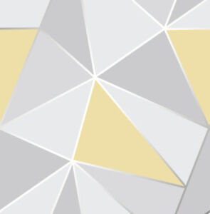 Image Is Loading Geometric Wallpaper 3D Apex Triangle Modern Futuristic Grey