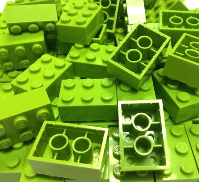 LEGO 2x3 BRICKS 3002 Pack of 50 parts LIME GREEN pieces bundle city creator
