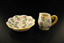 Miniature Dollhouse Fairy Garden Purple Flower Pitcher & Basin Set-Buy 3 Save $5