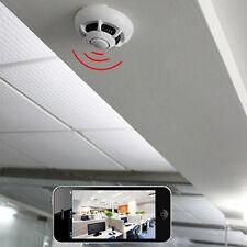 UFO Style P2P Smoke Sensor Detector WiFi Wireless Mini IP Camera Safe Nimble