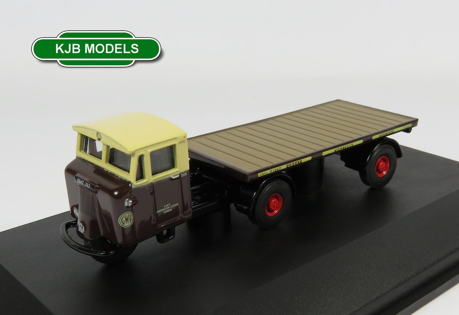 Oxford Diecast 76MH003 GWR Flatbed Trailer