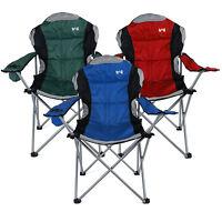 Kestrel Deluxe Heavy Duty Padded Steel Folding Camping Festival Chair Cup Holder