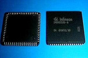 10 x Original SIEMENS SAB80C535-N  MCU PLCC68