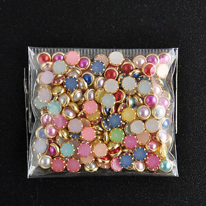 200PCS-3D-4m-Acrylic-Decor-Nail-Art-Charms-Bling-Rhinestone-Pearl-Tips-DIY