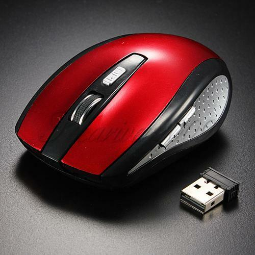 Red 2.4GHz Wireless Optical Portable Mouse Mice +USB 2.0 Receiver For PC Laptop