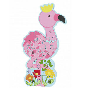 Orange Tree Number 1-10 Flamingo Wood Puzzle