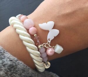 Rose Quartz Shell Crystals Bracelet Jewelry Gift Present Birthday - Northampton, United Kingdom - Rose Quartz Shell Crystals Bracelet Jewelry Gift Present Birthday - Northampton, United Kingdom